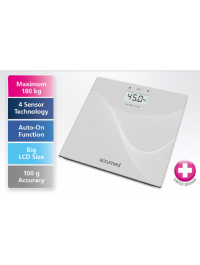 Accumed Super Slim Electronic Glass Personal Scale ( Weight Scale, Weighing Scale )