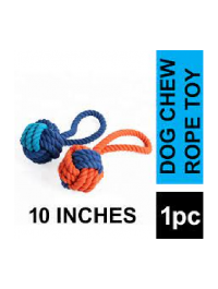 Braided Dog Chew Single Ball Toy Style Cotton Rope Pet Toy 10 Inches
