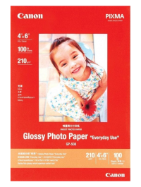 """Canon GP-508 Glossy Photo Paper Size 4 x 6"""" 210 GSM - 20 Sheets"""