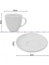 Ceramic cup and plate set long ( ccp002)