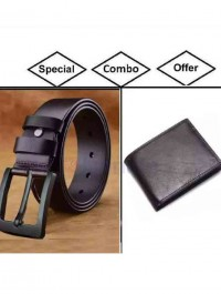 Combo Pack Of Men Belt And Purse