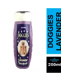 DOGGIES Shampoo Lavender For Fleas & Ticks 200ML For Dogs Cats Pets