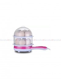 Double Layer Egg Boiler with Pan