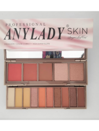 Eyeshadow + Highlighter + Color Correct Aanylady Pallet With Mirror