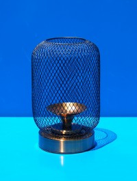 Iron Net Case Candle Stand
