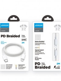 JOYROOM S-2024M5 2.4A PD USB-C / Type-C to 8 Pin Charging + Transmission Nylon Braided Data Cable, Cable Length: 2m