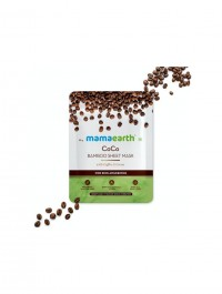 mamaearth CoCo Bamboo Sheet Mask with Coffee & Cocoa for Skin Awakening - 25 g