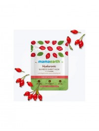 mamaearth Hyaluronic Bamboo Sheet Mask with Rosehip Oil for Soft & Plump Skin - 25 g