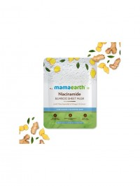 mamaearth Niacinamide Bamboo Sheet Mask with Niacinamide & Ginger Extract for Clear & Glowing Skin - 25 g