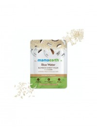 mamaearth Rice Water Bamboo Sheet Mask with Rice Water & Coconut Milk for Deep Hydration - 25 g