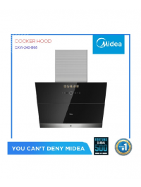 Midea Skyline Cooker Hood with Advanced Steam Wash Smart Cleaning Technology (Black) - Touch Control