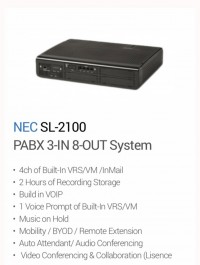 NEC SL-2100  PABX 3-IN 8-OUT System