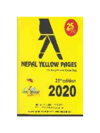Nepal Yellow Pages 2020 By No Specified Author