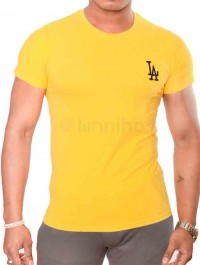 New Stylish Plain Tops Fitness Men T-Shirt Short Sleeve Muscle Joggers Bodybuilding T-Shirt Gym Clothes Slim Fit
