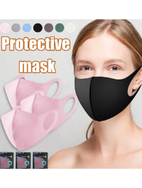 Pack Of 3 Washable Anti Pollution Dust Face Mask 3 Layer Cotton Mouth Face Mask For Adult Reusable Mask ( Korean Mask)