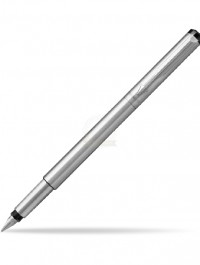 Parker Vector Stainless Steel Fountain Pen - Free Keychain