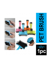 PET SLICKER BRUSH CAT & DOG BRUSH GROOMING TOOLS FOR MATTING AND REMOVING DEAD SHEDDING FUR WITH PRESS RELEASE SMALL SIZE