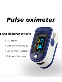 Portable Finger Tip Pulse Oximeter Oled Display Heart Rate Monitor Blood Oxygen Saturation Monitor With Lanyard