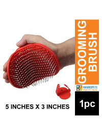 Practical Pet Grooming Brush For Cat & Dog Soft Rubber Palm Rest Tool For Matting And Removing Dead Shedding Fur