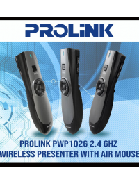 PROLiNK 2.4 Ghz Wireless Presenter With Air Mouse - Pwp102G