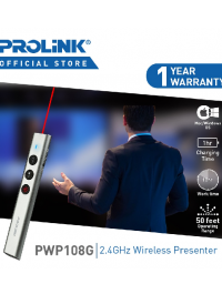 PROLiNK 2.4 Ghz Wireless Presenter With Red Light - Pwp108G
