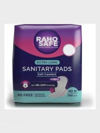 Raho Safe Sanitary Pad Regular with Biodegradable Disposable Bags – 40 Pads Count