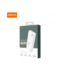 Recci Power Bank 20000mAh, Portable Charger with 2 Outputs