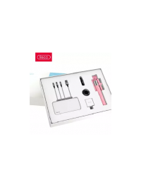 Recci Youth Pack Luxuries Giftbox, Powerbank,3 in 1 cable, wireless Earphone, Selfie-Stick,Charger & Mobile Holder