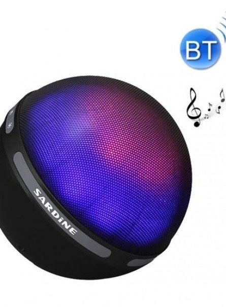SARDiNE B2 Multifunctional Wireless Bluetooth Speaker  with Mic & Color LED Light, Support Hands-free Answer Phone & Micro SD TF Card & AUX Line In(Black)