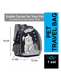 Small Dog and Cat Backpack Carrier Bubble Bag , Space Capsule Pet Carrier, Hiking Backpack Travel Carrier Bag