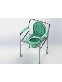 Tynor Commode Chair With Backrest And Armrest