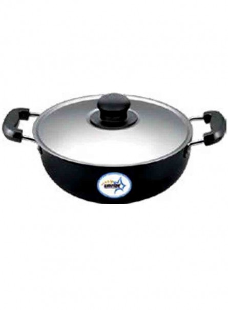 UNIRIZE HARD ANODISED KARAHI WITH STAINSLESS STEEL LID