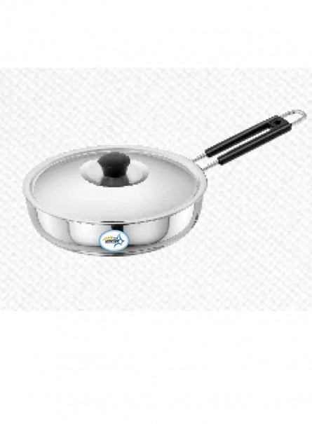 UNIRIZE POLISHED FRY PAN WITH STAINLESS STEEL LID