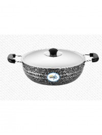 UNIRIZE POWDER COATED KARAHI WITH STAINLESS STEEL LID