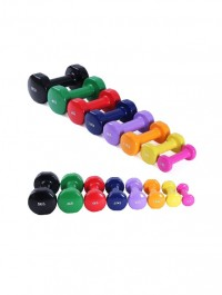 Vinyl Dumbbell Set Solid Aerobic Training Weights Strength Home Dumbbells Gym (Assorted Color)